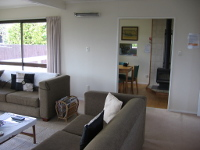 View of the lounge at the Taupo Holiday House